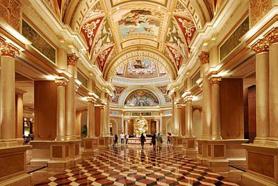 The Venetian Hotel Lobby  Las Vegas Art Print