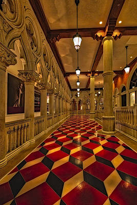Nevada Photograph - The Venetian Las Vegas Corridor by Susan Candelario