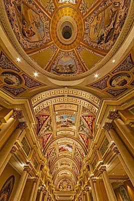 Photograph - The Venetian Las Vegas Hall by Susan Candelario