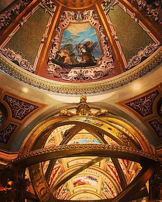 Photograph - The Venetian Lobby Ceiling In Las Vegas by Michael Saunders