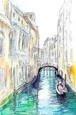 Drawing - The Venice by Hae Kim
