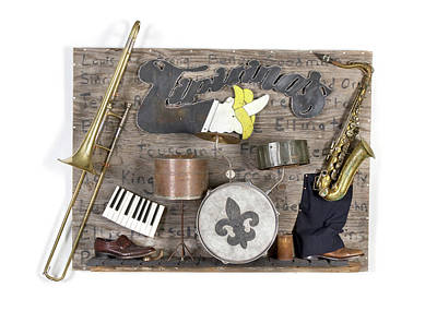 Trombone Mixed Media - The Venue by Benjamin Bullins
