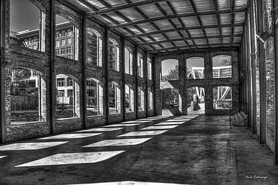Photograph - The Venue Bw Old Mill Wedding Venue Reedy River South Caroline Art by Reid Callaway