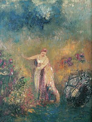 Venus Painting - The Venus Bath by Odilon Redon