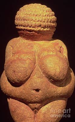 Carving In Stone Photograph - The Venus Of Willendorf by Unknown