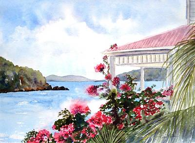 Painting - The Veranda by Diane Kirk
