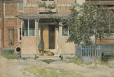 The Dog House Painting - The Veranda. From A Home by Carl Larsson