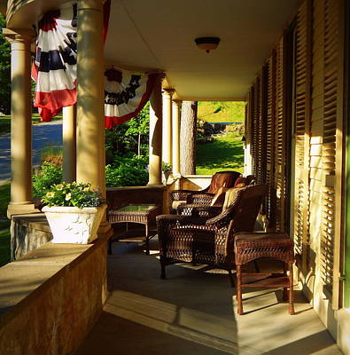 A Summer Evening Photograph - The Veranda by Karen Cook