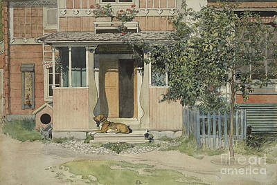 Painting - The Verandah, From A Home Series by Carl Larsson