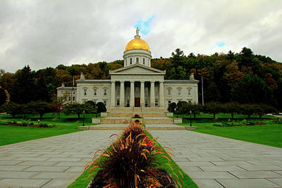 Photograph - The Vermont State Capital Building by Gary Corbett