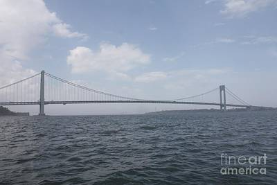 Photograph - The Verrazano Bridge by John Telfer