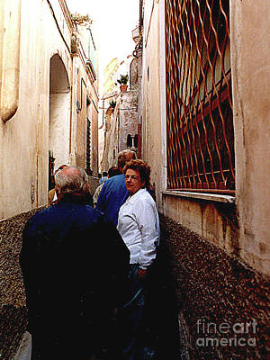 Photograph - The Very, Very Narrow Streets In Anacapri, Italy by Merton Allen