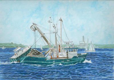 The Vessel Ocean Venture - Portland Harbor Art Print