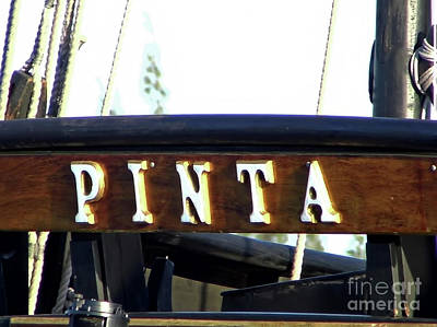 Photograph - The Vessel Pinta by D Hackett