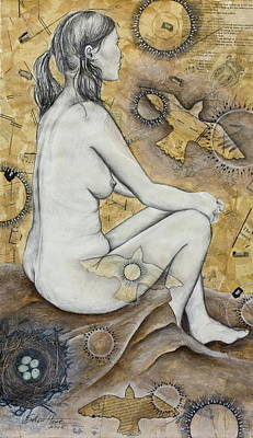 Figurative Art Mixed Media - The Vessel by Sheri Howe