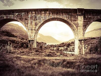 The Viaduct And The Loch Art Print by Denise Railey