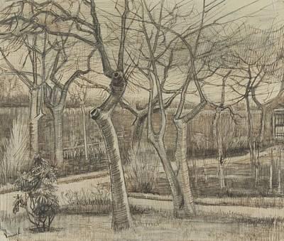Painting - The Vicarage Garden Nuenen, March 1884 Vincent Van Gogh 1853 1890 by Artistic Panda