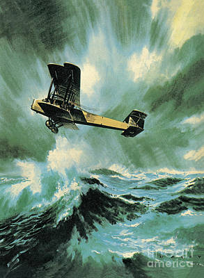 Plane Painting - The Vickers Vimy by Wilf Hardy