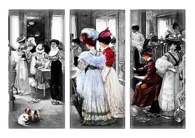 Female Mixed Media - The Victorian Era by Zin Shades