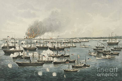 Painting - The Victorious Attack On Fort Fisher, 1865 by Currier and Ives