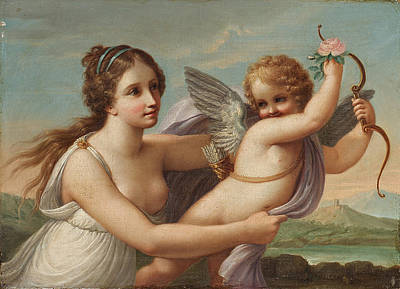 Painting - The Victory Of Eros by Style of Angelica Kauffmann