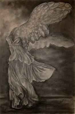 The Victory Of Samothrace Print by Julianna Ziegler