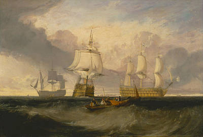 Joseph Painting - The Victory Returning From Trafalgar, In Three Positions by JMW Turner