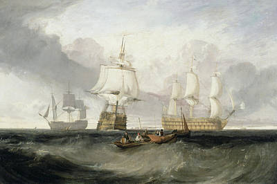 Pirate Ship Painting - The Victory Returning From Trafalgar by Joseph Mallord William Turner