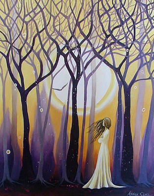 Mystical Landscape Painting - The View by Amanda Clark