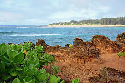 Photograph - The View At Mahaulepu Beach Hawaii by Bruce Gourley