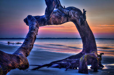 Photograph - The View Driftwood Beach Jekyll Island Sunrise Art by Reid Callaway