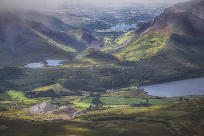 Snowdonia Photograph - The View From Atop Snowdon by Chris Fletcher
