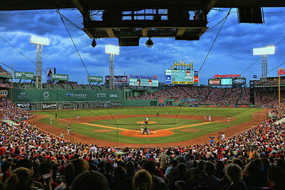 Photograph - The View From Behind Home Plate # 2 - Fenway Park by Allen Beatty