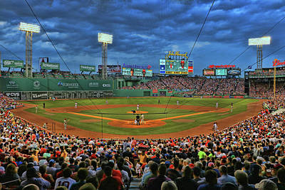 Photograph - The View From Behind Home Plate - Fenway Park by Allen Beatty