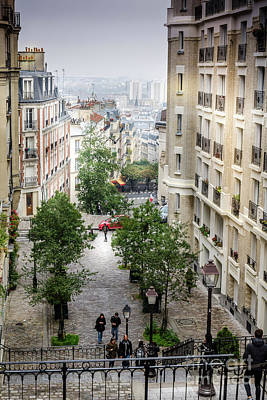 Photograph - The View From Montmartre Steps, Paris France 2 by Perry Rodriguez