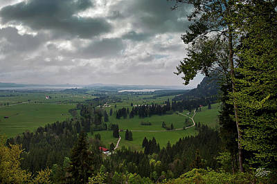 Photograph - The View From Neuschwanstein Castle by Endre Balogh