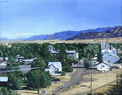Michael Ward Painting - The View From Peet's Hill by Michael Ward