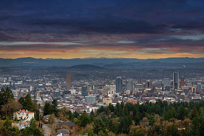 Scenic Photograph - The View From Pittock Mansion Viewpoint by David Gn
