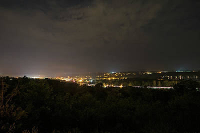 The View From Sunset Park At Night Ithaca Ny Print by Toby McGuire
