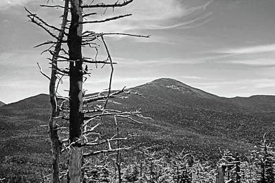 Photograph - The View From Tabletop Mountain Adirondacks Upstate New York Black And White by Toby McGuire