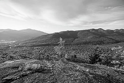 Photograph - The View From The Brothers Trail Big Slide Mountain Keene Valley New York Black And White by Toby McGuire