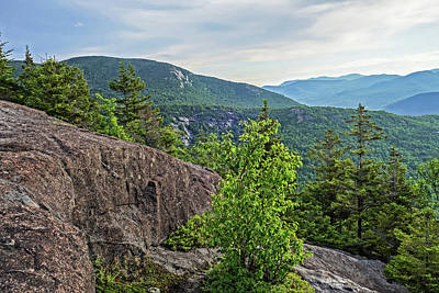 Photograph - The View From The Brothers Trail Big Slide Mountain Keene Valley New York Clouds Rock Wall by Toby McGuire