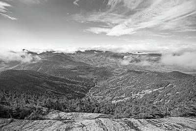 Photograph - The View From The Giant Mountain Summit Keene Valley Ny Adirondacks Black And White by Toby McGuire