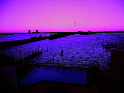 Photograph - The Purple View  by Monique's Fine Art