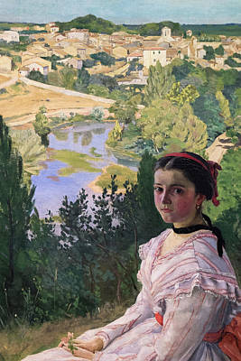 Outlook Painting - The View Of The Town by Frederic Bazille