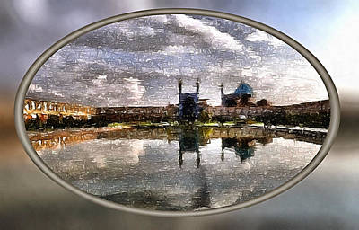Manipulation Photograph - The View To The Mosque by Mario Carini