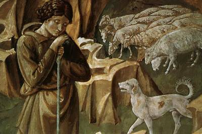 Painting - The Vigil Of The Shepherds Detail by Gozzoli Benozzo