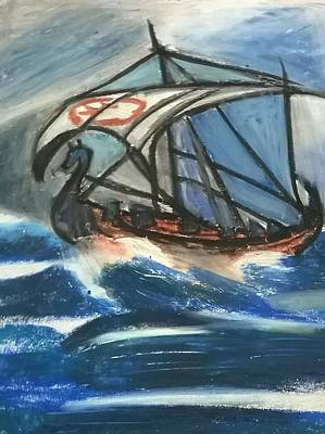 the Viking's ship Art Print
