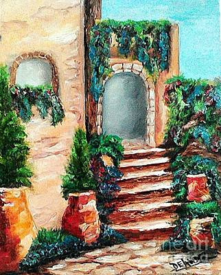 On Cavas Painting - The Villa  by Mary DeLawder
