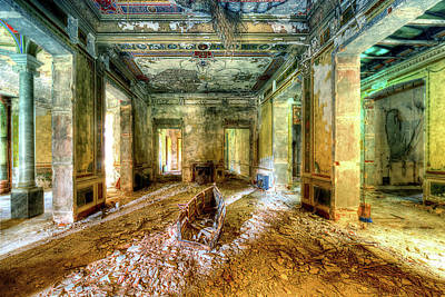 Photograph - THE VILLA OF THE BOAT IN THE ANTIQUE SALON - La VILLA DELLA BARCA NELL'ANTICO SALONE by Enrico Pelos